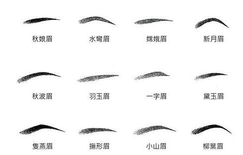 眉毛的种类有哪些