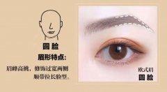 圆脸适合什么眉形?画眉的时候要注意什么